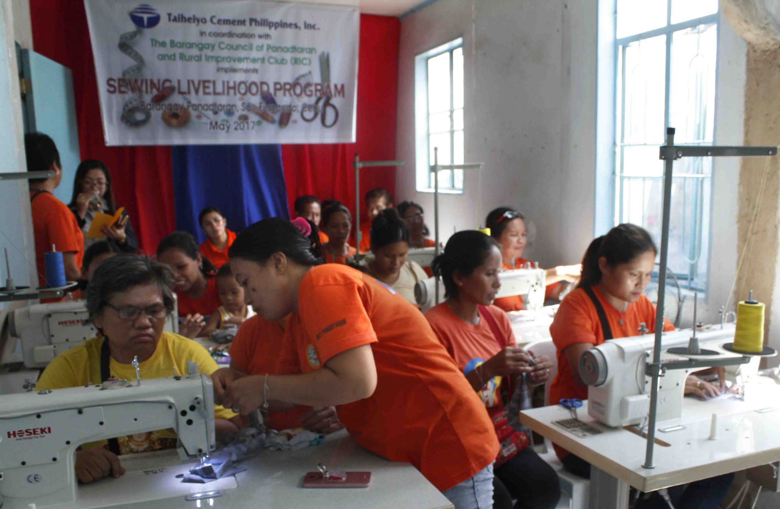 Taiheiyo equips women's livelihood through sewing
